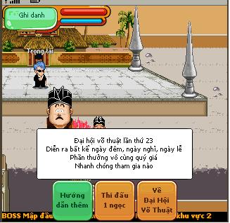 Dai hoi vo thuat lan 23 trong game Ngoc Rong Online 130