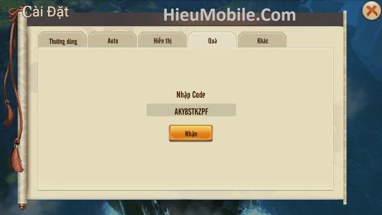 Hình ảnh aiQW1O1 của Cách nhận và sử dụng giftcode 1 triệu - Kiếm Hiệp Truyền Kỳ Mobile tại HieuMobile