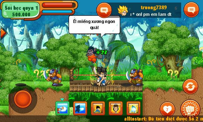 Hình ảnh boss Sói Hẹc Quyn trong game Ngọc Rồng Online