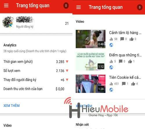 Hình ảnh bQ6Ktu0 của Tải YouTube Studio - Quản lý kênh YouTube ngay trên điện thoại tại HieuMobile