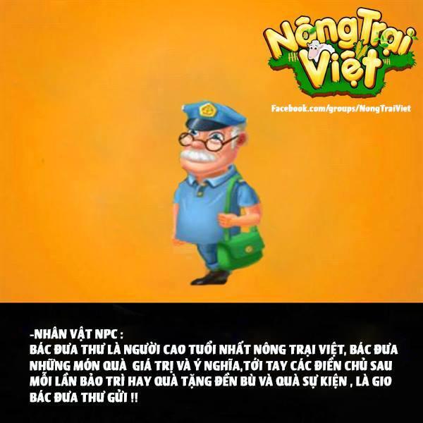 Bác đưa thư - là NPC của Nông Trại Việt