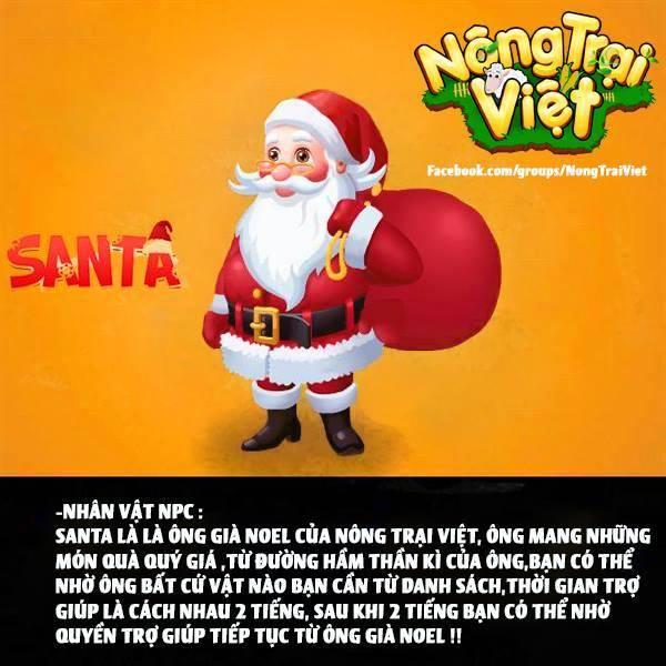 Ông Già Noel - Santa - là NPC của Nông Trại Việt