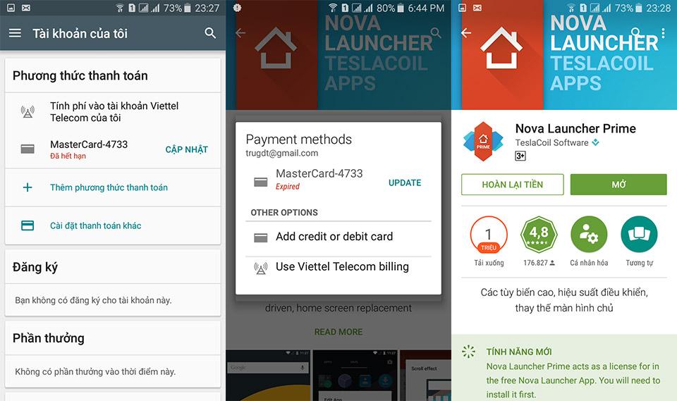 Hướng dẫn mua game/app trên Google Play bằng tiền Việt