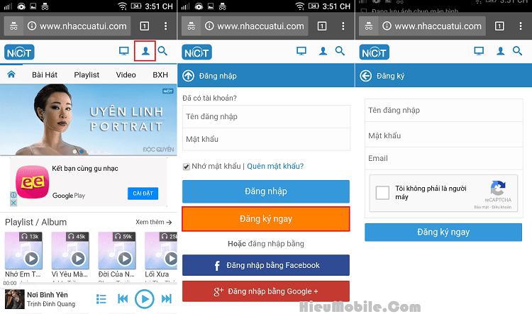 Hình ảnh cprcz1d của Hướng dẫn tạo tài khoản NhacCuaTui miễn phí trên điện thoại tại HieuMobile