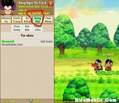 Hình ảnh drVUF3F của Giới thiệu tính năng Bang Hội trong game Ngọc Rồng Online tại HieuMobile