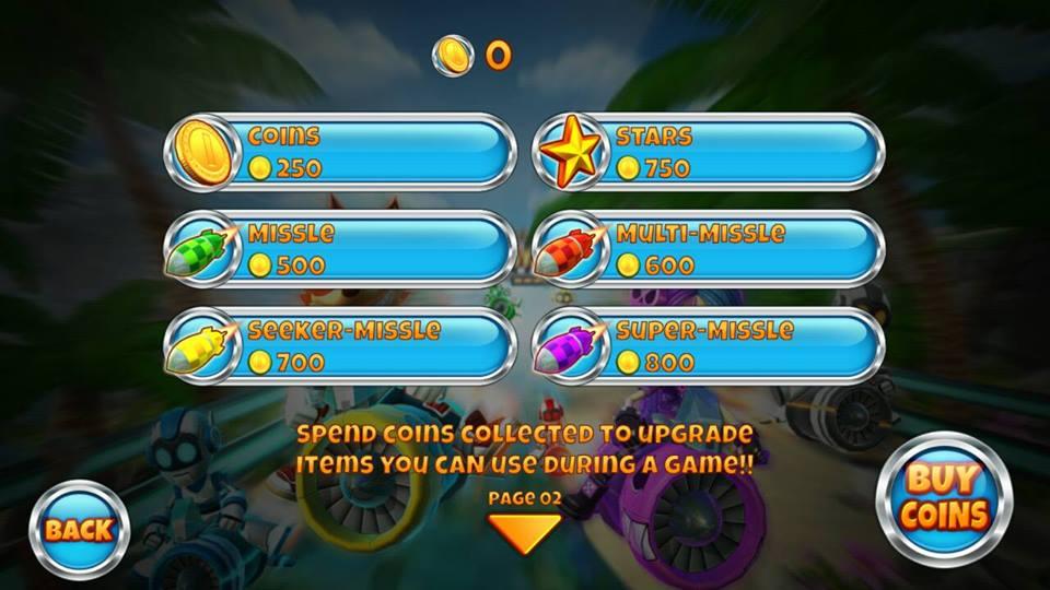 Hình ảnh trong game Rocket Racer - Đua tên lửa tại HieuMobile