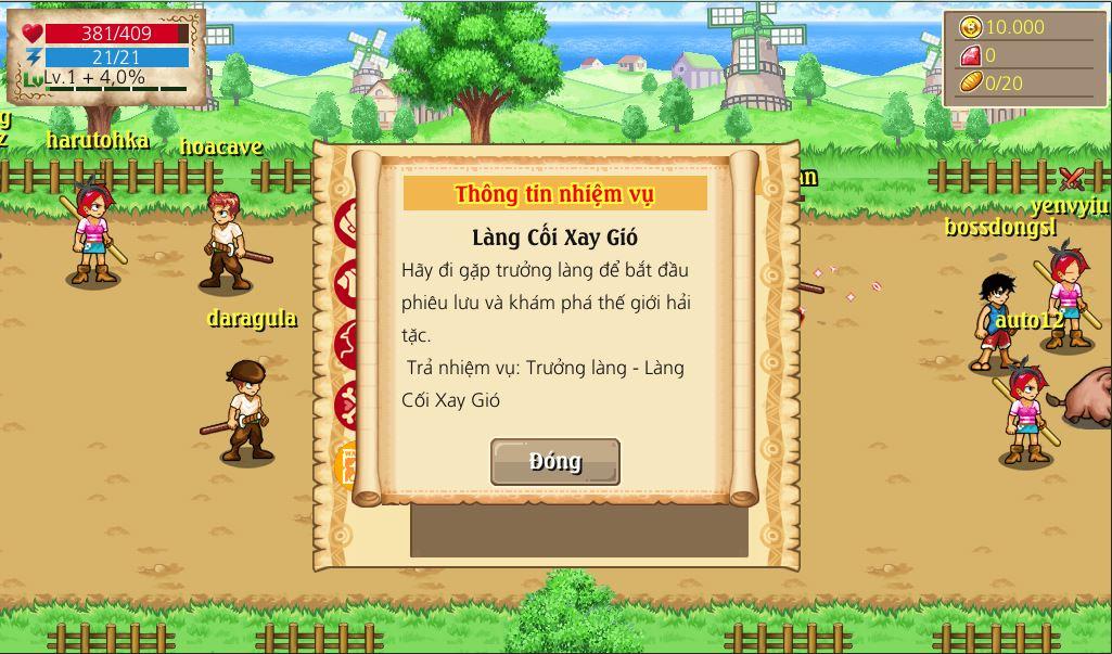 Hải Tặc Tí Hon - Nhiệm vụ đầu tiên khi vừa tham gia game