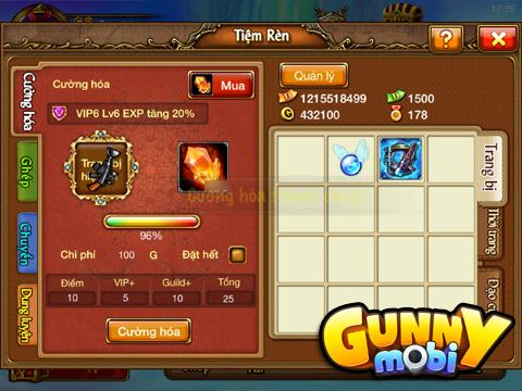 Cường hóa và hợp thành - Gunny Mobi