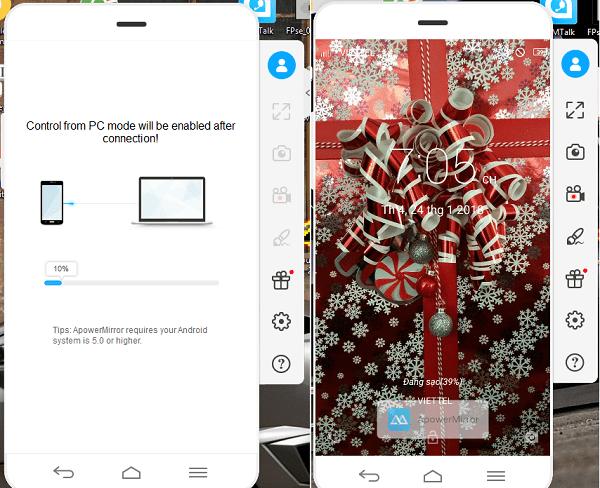 Hình ảnh f0r5r5g của Phát hình ảnh từ Android, iPhone ra máy tính không cần mạng tại HieuMobile