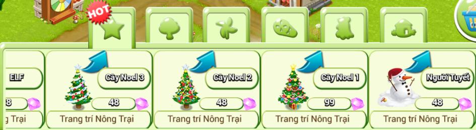 Một số vật phẩm trang trí Noel Nông Trại Việt