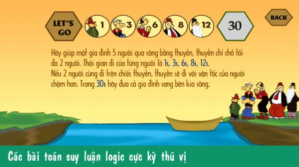 Hình ảnh trong game Qua Sông IQ - Giải đố mẹo xoắn cả não tại HieuMobile