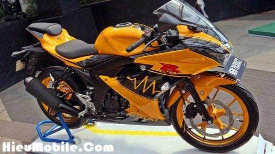 Hình ảnh fed5jdG của Suzuki giới thiệu mẫu GSX R150 tem cam đen cực chất tại HieuMobile