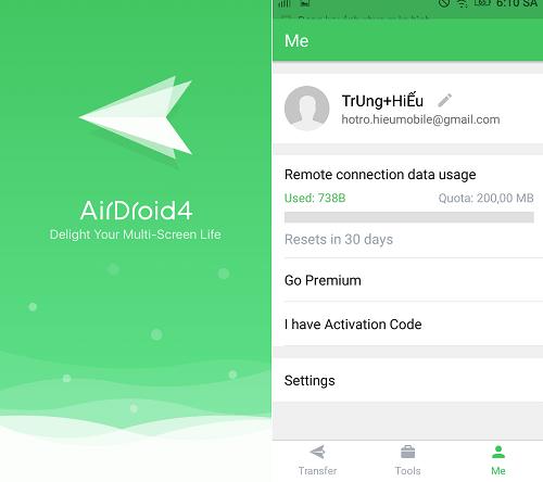 Hình ảnh fkSdoGU của Tải AirDroid - Quản lý tệp tin và truy cập bảo vệ điện thoại từ xa tại HieuMobile
