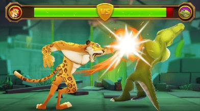 Hình ảnh trong game Smash Champs - Đấu võ thú tương tác chém trái cây tại HieuMobile