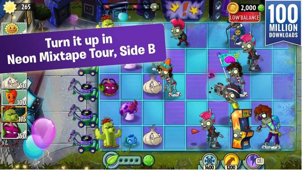 Cùng cây xanh chiến đấu chống lại Zombie - Tải Game Plants vs Zombies 2