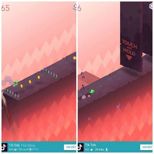 Hình ảnh nhân vật đang chạy trên đường trong game The Pit