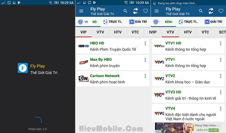Hình ảnh giwAylw của Tải Fly Play VinaTV - Ứng dụng xem tivi nhiều kênh miễn phí tại HieuMobile