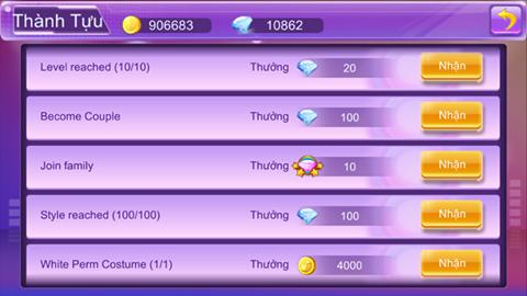 Kiếm diamond - kim cương game Super Dancer VN 1