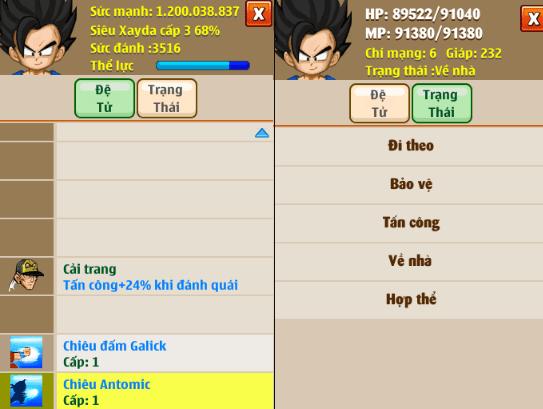 Hình ảnh của Ngọc Rồng Online - Chú Bé Rồng cập nhật phiên bản 145 tại HieuMobile