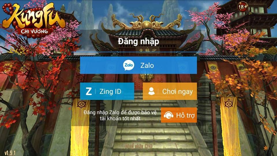 Man hinh dang nhap game Kungfu Chi Vuong 2016