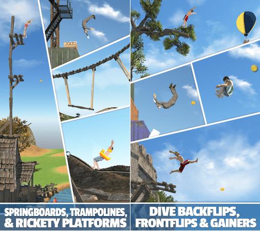 Hình ảnh trong game Flip Diving - Nhảy cầu mạo hiểm