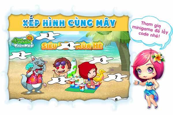 Su dung giftcode Khu Vuon Tren May Mobile