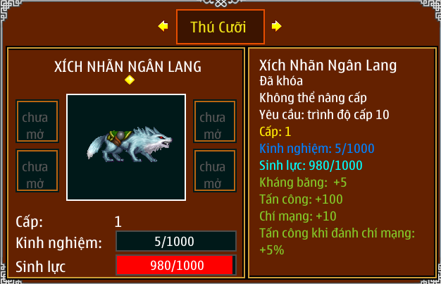 Ninja School Online Thú cưỡi vip