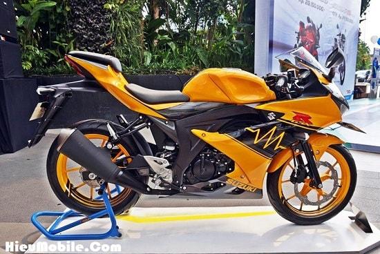 Hình ảnh m2fqcSq của Suzuki giới thiệu mẫu GSX R150 tem cam đen cực chất tại HieuMobile