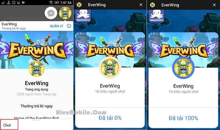 Hình ảnh mKHQAt2 của Cách chơi game bắn máy bay EverWing Facebook trên điện thoại tại HieuMobile
