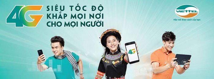 Viettel luôn quảng bá dịch vụ 4G thông qua các ưu đãi khuyến mại rất hấp dẫn