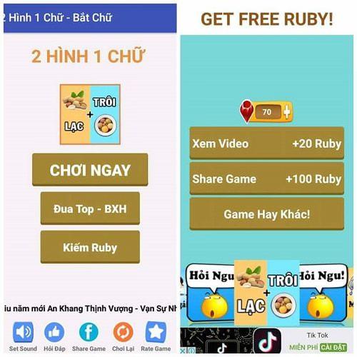 Game 2 hình 1 chữ giúp bạn thử thách trí thông minh