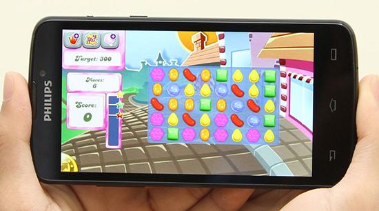 Điện thoại Android chơi game Philips V387A dưới 3tr