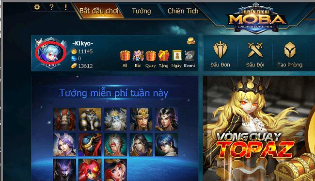 Hình ảnh n7CF3hR của Cách chia sẻ một trận đấu lên kênh chat game Huyền Thoại Moba tại HieuMobile