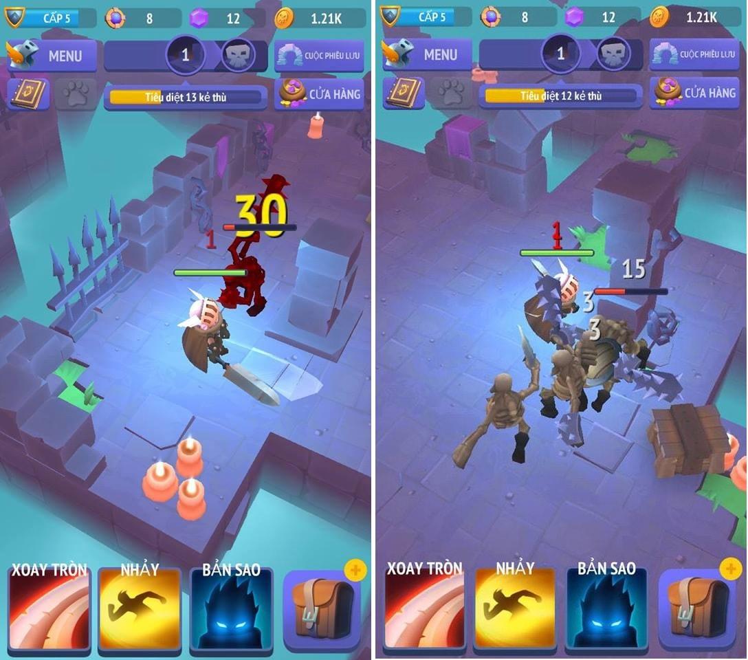 Hình ảnh trong game Nonstop Knight - Hiệp sĩ không ngừng nghỉ tại HieuMobile