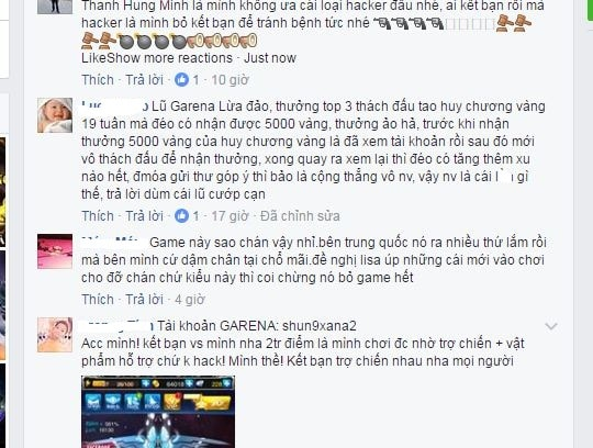 Chui the noi tuc trong game online Viet Nam