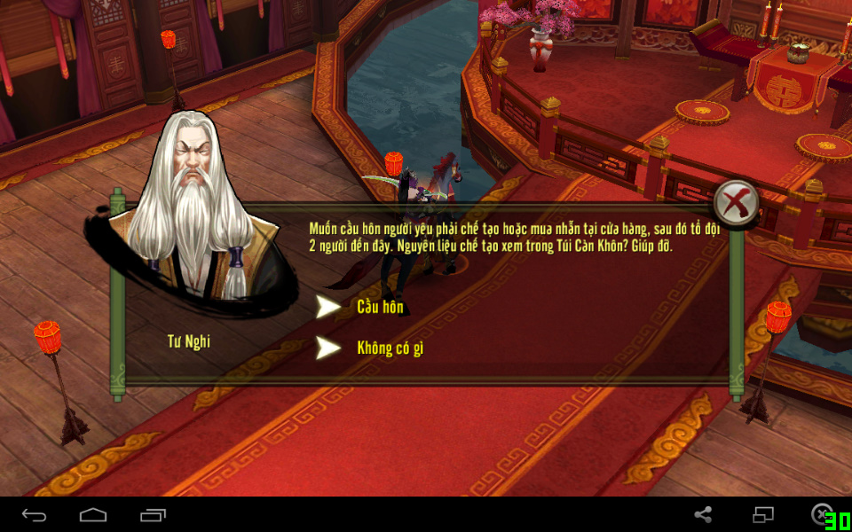 NPC Tư Nghi trong tính năng kết hôn game Thiên Long Bát Bộ