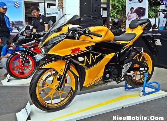 Hình ảnh p2jgyus của Suzuki giới thiệu mẫu GSX R150 tem cam đen cực chất tại HieuMobile