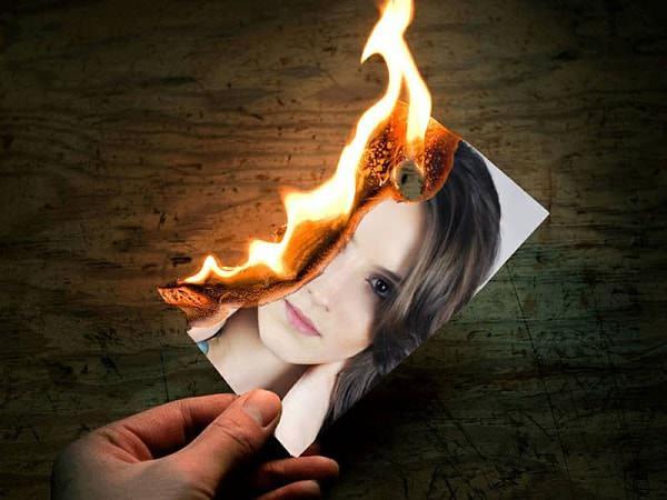 Một bức ảnh có hiệu úng đốt cháy được tạo ra bởi Ephoto 360