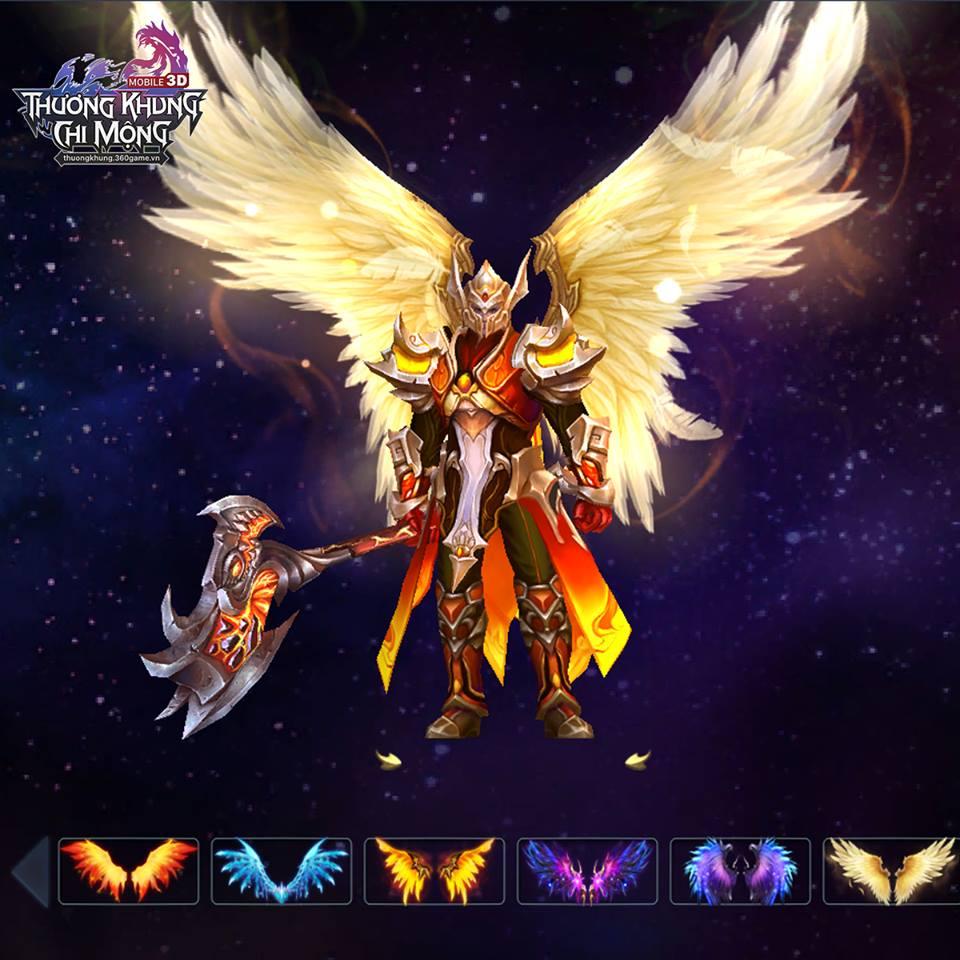 Hệ thống cánh của nhân vật gây ấn tượng mạnh - Thương Khung Chi Mộng
