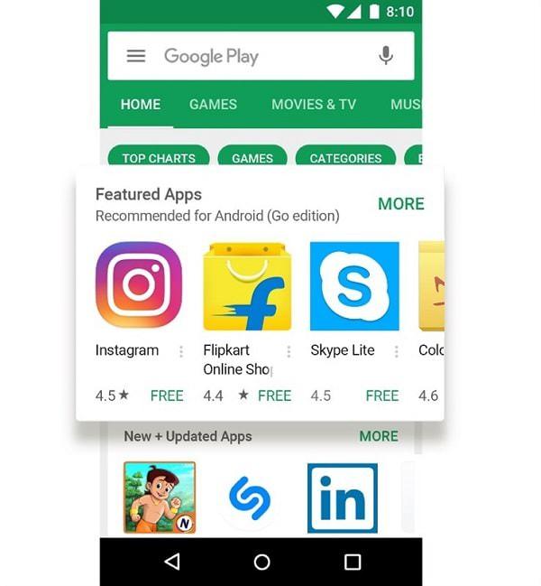 CH Play sẽ có mục phân loại những ứng dụng phù hợp với hệ điều hành Android Go
