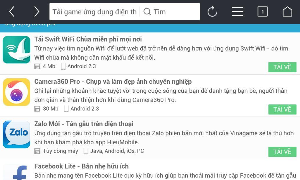 HieuMobile khi duyệt bởi UC Browser quá đẹp