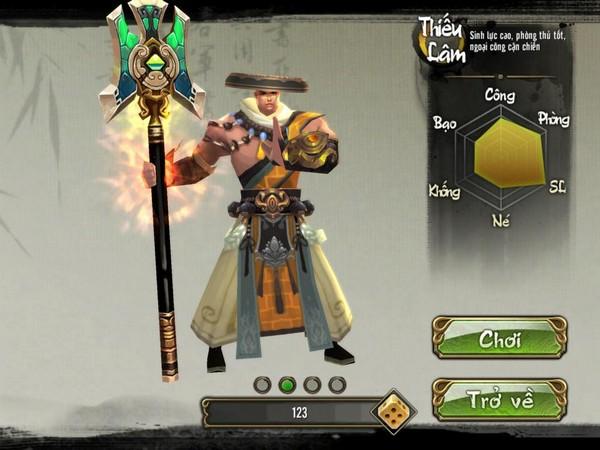 Hình ảnh môn phái Thiếu Lâm của Thiên Long Bát Bộ 3D Mobile
