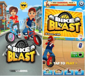 Hình ảnh trong game Bike Blast - Đua xe đạp đường phố tại HieuMobile