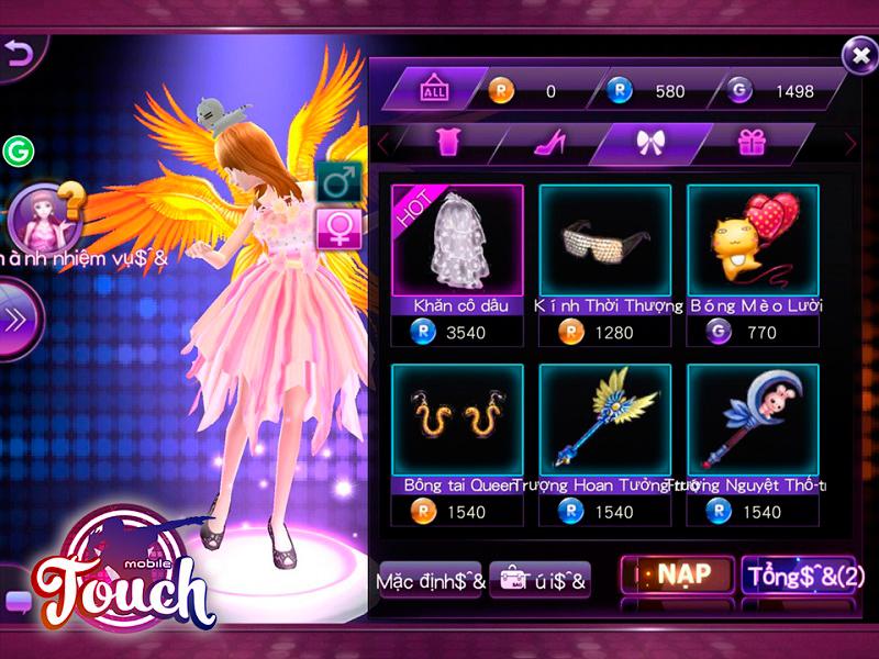 Touch Mobile có phụ kiện thời trang bắt mắt