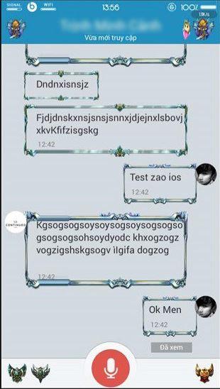 Tải Zalo Mod giao diện LOL cho thiết bị iOS