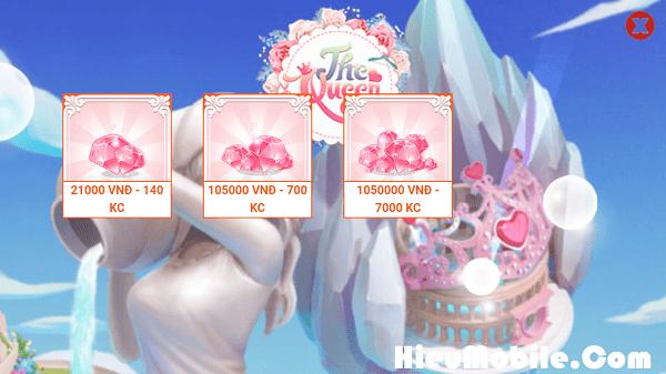 Hình ảnh rSns9yC của Nạp thẻ mua Kim Cương game The Queen thế nào cho tiết kiệm ? tại HieuMobile