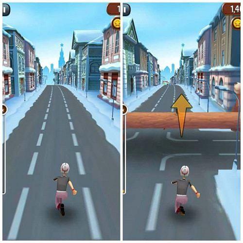 Game Angry Gran Run có cách chơi khá dễ