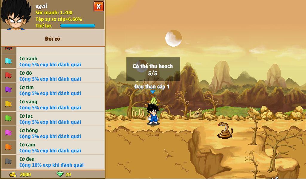 Các loại cờ PK Ngọc Rồng Online