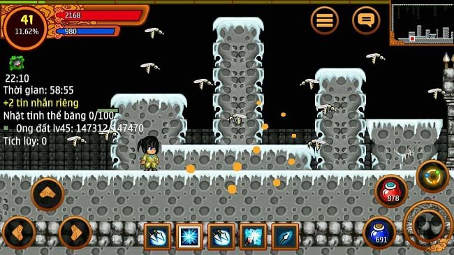 Map đầu tiên của hang động cấp 45 trong game Ninja School Online