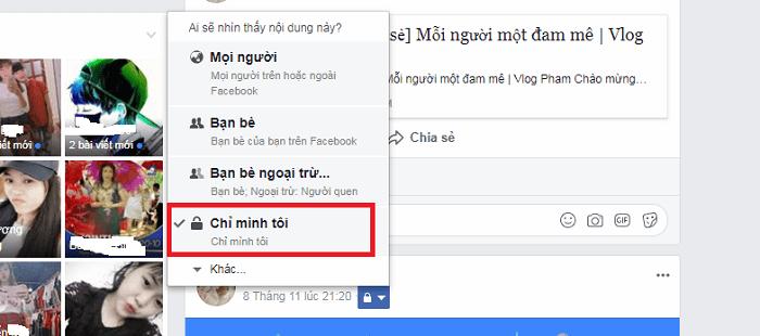 Cách duy nhất để giấu nội dung đã đăng tải trên tường nhà Facebook